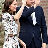 When Kate Lifted Her Arm, Her Separates Were Highlighted