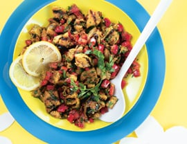 Fast & Easy Dinner: Grilled Eggplant Salad