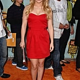 In 2008, Hayden Panettiere chose an LRD for her walk on the orange carpet.