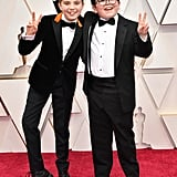 Roman Griffin Davis and Archie Yates at the 2020 Oscars