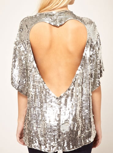 From the front, this ASOS sequin tunic ($74, originally $106) looks like any ol' sequin top, but the back features this cute cutout heart detail.