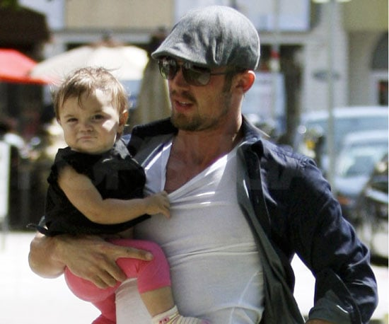 Slide Picture of Cam Gigandet and Daughter Everleigh at Toast