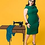 Barbie x Unique Vintage Plus Size 1960s Style Green Sheath Dress