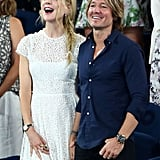 Nicole and Keith flashed big smiles at the 2019 Australian Open.
