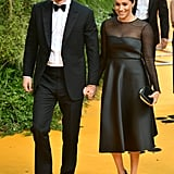 Pictured: Prince Harry and Meghan Markle at The Lion King premiere in London.