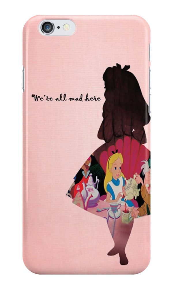 """Alice in Wonderland """"We're All Mad Here"""" case ($25)"""