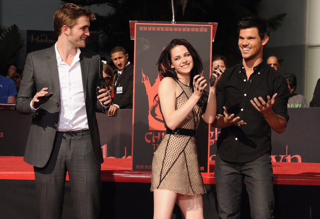 Kristen Stewart, Robert Pattinson, and Taylor Lautner played with each other.