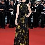 Dark Shadows' Bella Heathcote attended the Madagascar 3 premiere in a halter-neck Gucci gown.