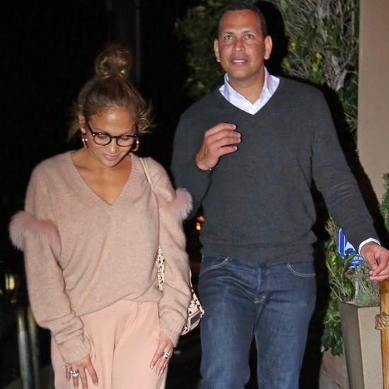 Jennifer Lopez Pink Furry Sweater by Sally LaPointe