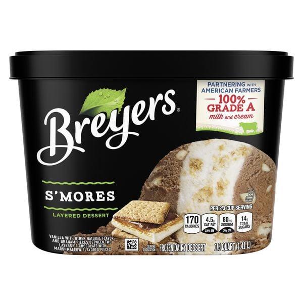 Breyers S'mores Layered Ice Cream