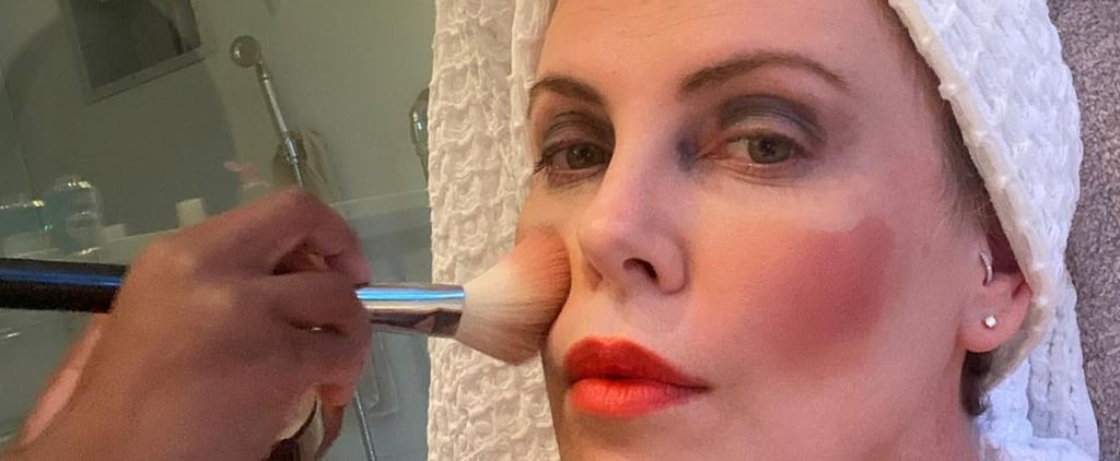 Charlize Theron's Daughter Does Her Makeup | Photos