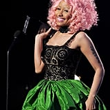 Nicki Minaj had pink hair at the 2011 American Music Awards.