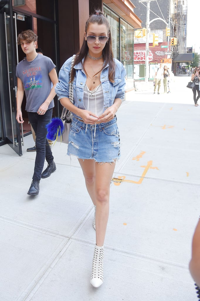 How to Wear a Denim Mini Skirt in 2016 | POPSUGAR Fashion Australia
