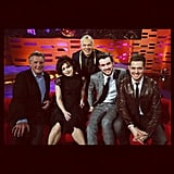 Michael Bublé met up with Helena Bonham Carter and some pals on The Graham Norton Show. Source: Instagram user michaelbuble