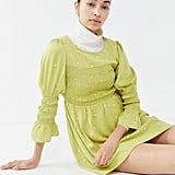 UO Mabel Floral Smocked Mini Dress