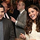 Kate Middleton Visits the Downton Abbey Set