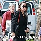 Angelina Jolie Red Bag Strap