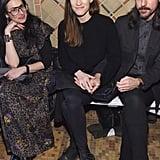 Stacy London, Jennifer Carpenter, and Seth Avett at Cynthia Rowley Fall 2019