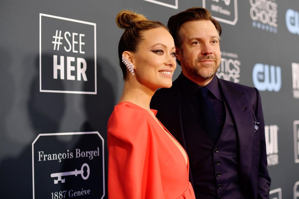 Olivia Wilde and Jason Sudeikis at the 2020 Critics' Choice Awards