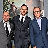 Stanley Tucci, Nicholas Hoult, and Bill Nighy suited up for the premiere.