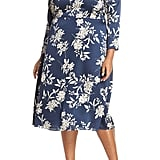 Vince Camuto Etched Bouquet Midi Dress