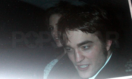 Photos of Robert Pattinson and Kristen Stewart Together Leaving the Afterparty for the 2010 BAFTA Awards, Plus Video of Them