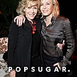 Jane Fonda and Chelsea Handler wrapped their arms around each other at a party celebrating the documentary Virunga's Oscar nomination.