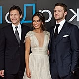 Justin Timberlake and Will Gluck suited up, and Mila Kunis wore a plunging neckline at the premiere.
