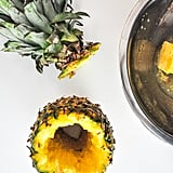 Step 3: Core out the center of the pineapple.