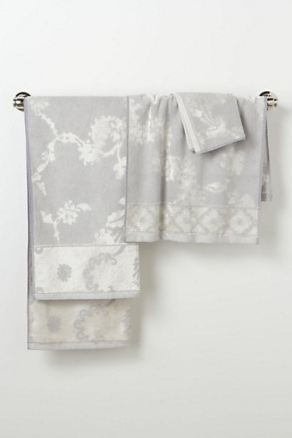Luxurious bath towels are some of my favorite things in life, and I love the understated pattern on this velveteen adorned set from Anthropologie ($8-$36). — Annie Scudder, editor