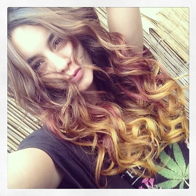 "Vanessa Hudgens snapped a photo of her ""Autumn hair"". Source: Instagram user vanessahudgens"