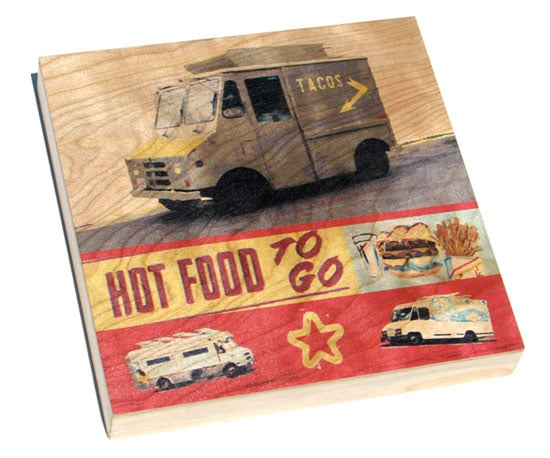 Food Truck Motifs on Everything From Cards to Shirts