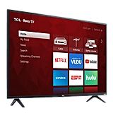 "TCL 43"" Class 4K Ultra HD Roku Smart LED TV"