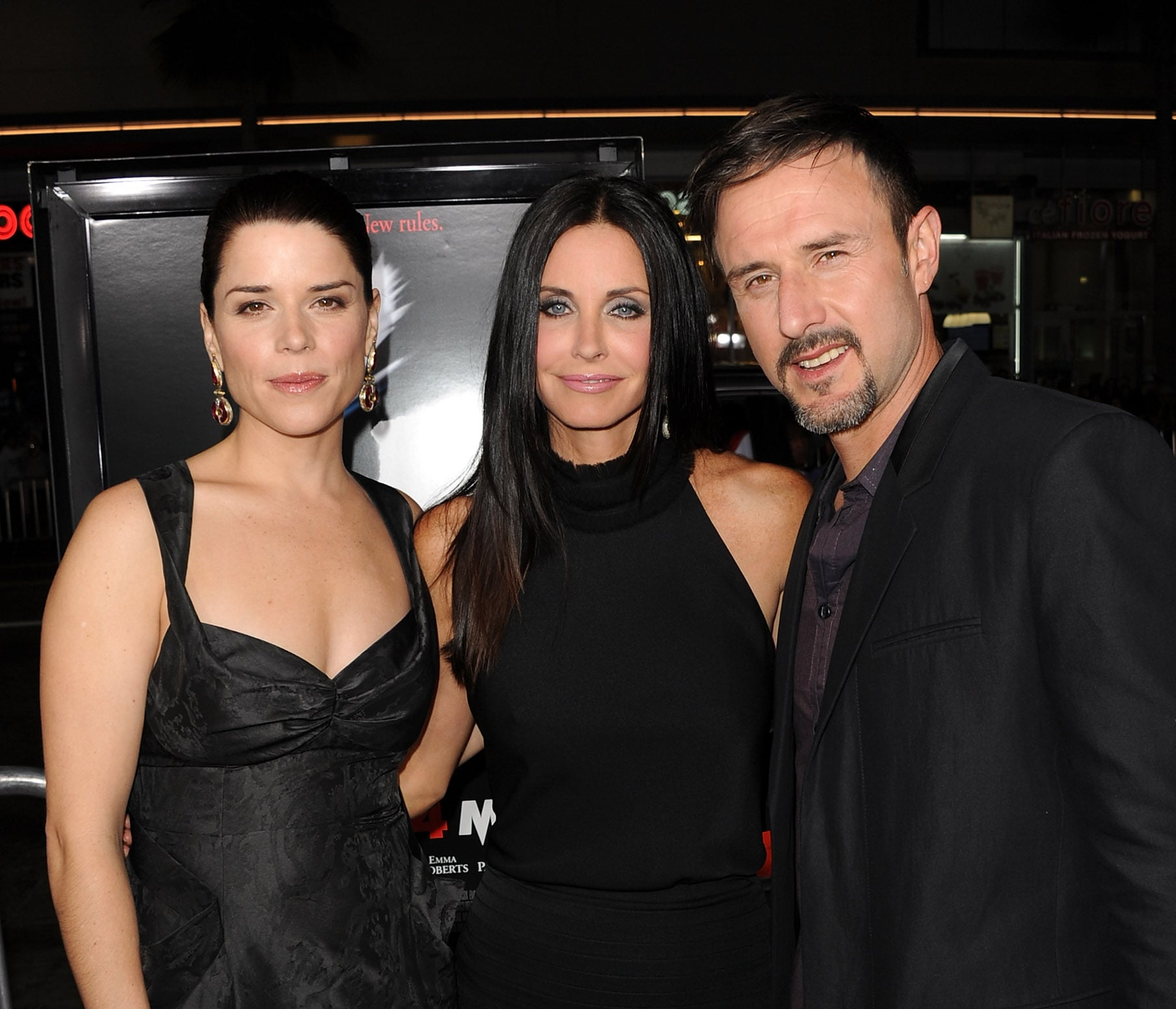 Neve Campbell, Courteney Cox and David Arquette