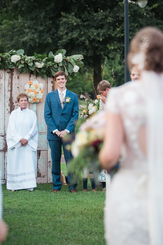 Matt and Rebecca selected the Mill at Plein Air in Taylor, MS, for their nuptials . . . and it made for one peachy-keen ceremony. See the wedding here!