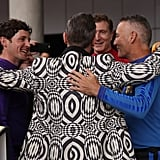 Robbie Williams hugged it out with The Wiggles.