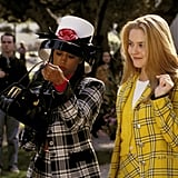 She Wore a Cropped Yellow Cardigan and White Top Under Her Plaid Jacket
