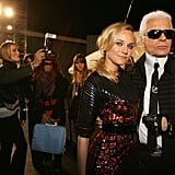 A candid moment at the Chanel Cruise show in Santa Monica in 2008.