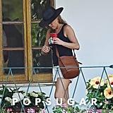 Jennifer Aniston Khaki Shorts in Italy 2018