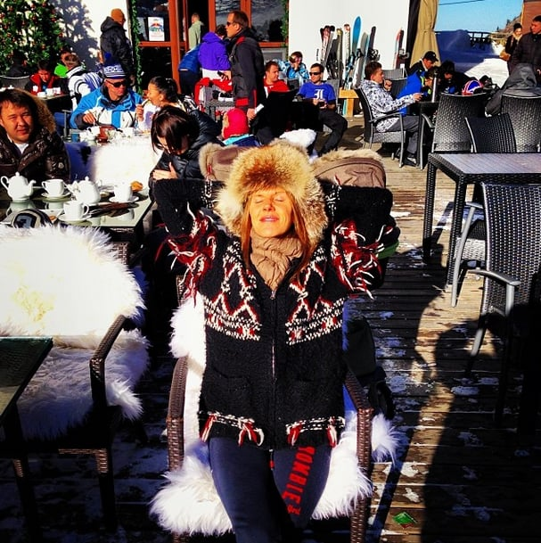 Anna Dello Russo soaked up the sun on an exotic Winter vacation in . . . Kazakhstan. Source: Instagram user annadellorusso