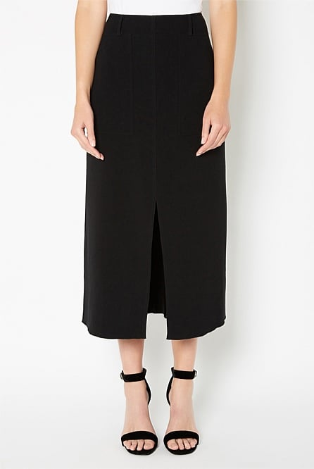 Centre Front Split Aline Skirt, $149.95