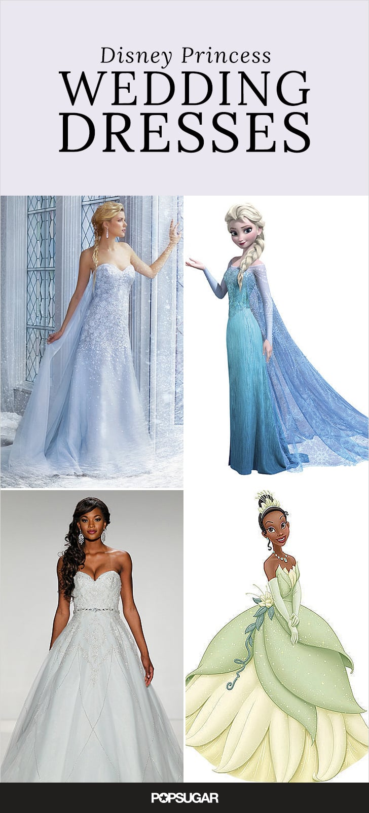 Disney princess wedding dresses popsugar fashion for Walt disney wedding dress