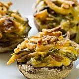 Green-Bean-Casserole-Stuffed Mushrooms