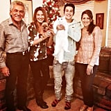 """Austin Mahone gave this family cat some extra love on Thanksgiving. """"Enjoy the time you have with ur family! Blood is thicker than water,"""" he captioned the Instagram image."""