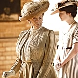 "Sybil Crawley: ""No one ever learned anything from a governess except for French, and how to curtsy."" Lady Violet: ""What more do you need?"" Photo courtesy PBS"