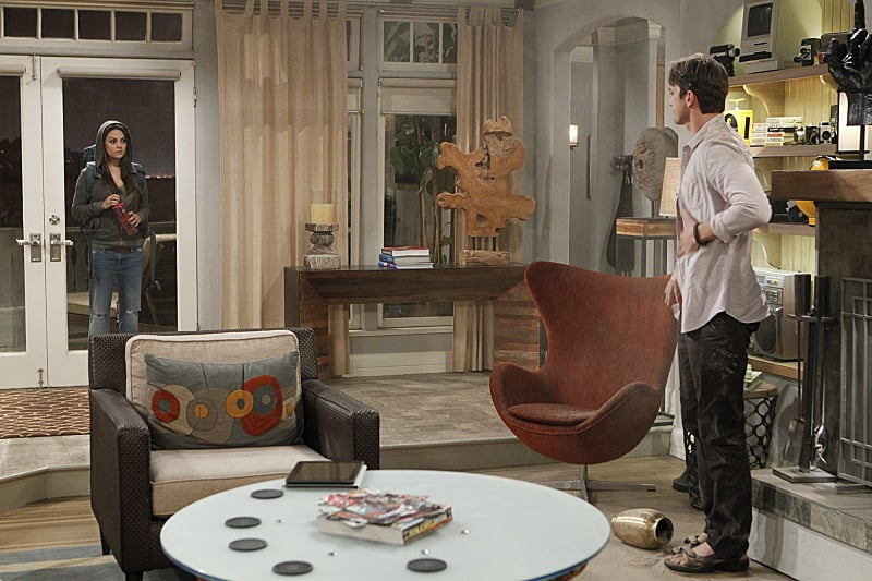 Kunis plays Vivian on Two and a Half Men. | Mila Kunis on Two and a on ghost whisperer house design, modern family house design, greek house design, family guy house design,