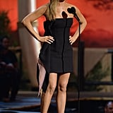 Jennifer Aniston in Strapless Dior Dress
