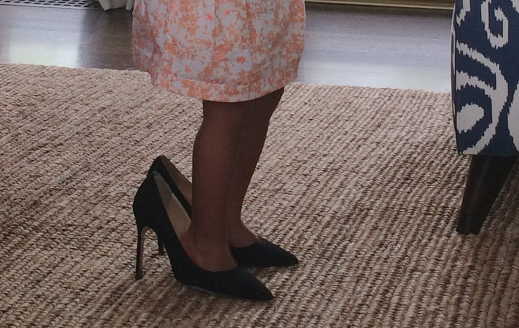 Blue stepped into her mom's heels.  Source: Beyonce.com