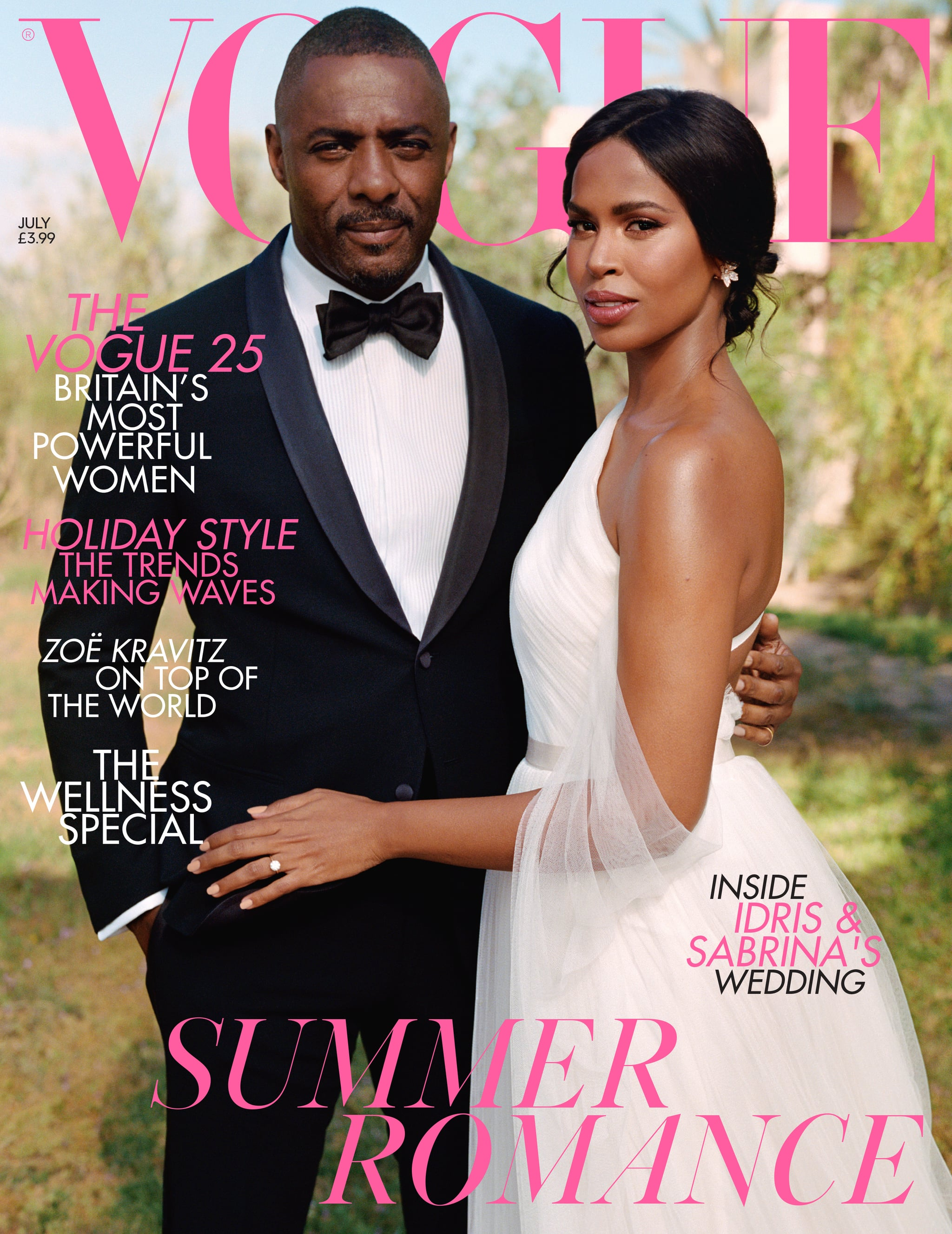 Idris Elba and Sabrina Dhowre Cover British Vogue With a Seriously Stunning Wedding Photo