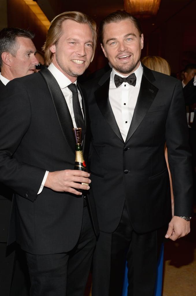 Leo and Moet & Chandon VP Ludovic du Plessis grabbed a drink together.